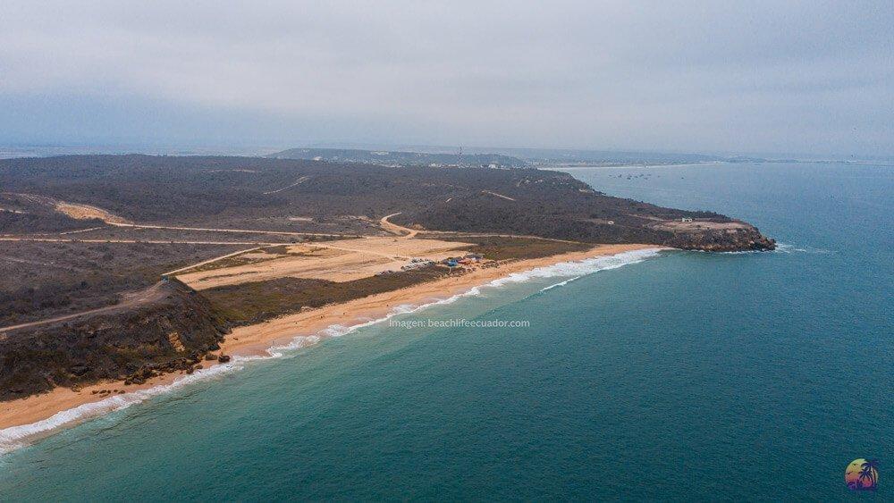 Vista aerea de Playa Rosada