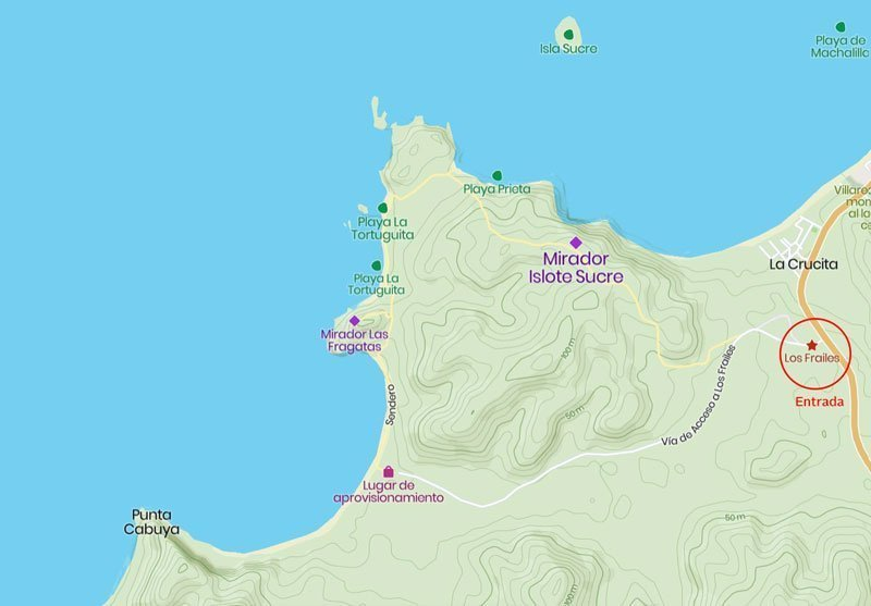 Mapa playa Los Frailes