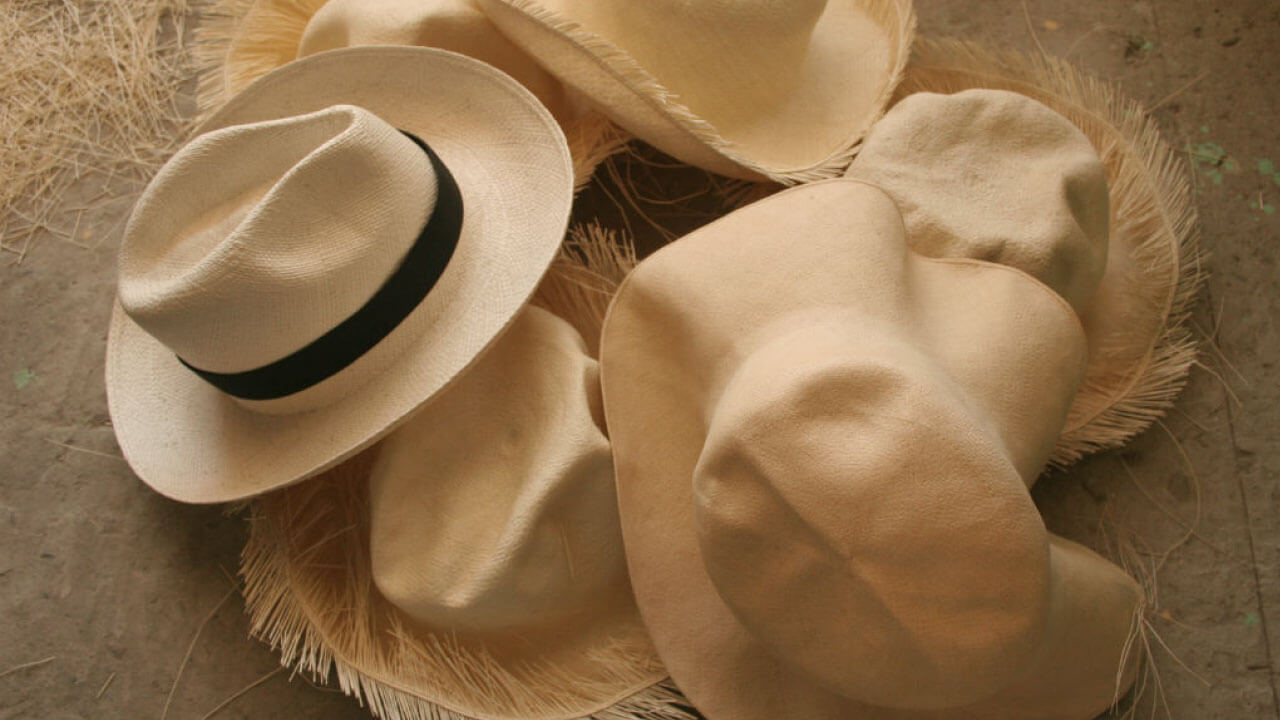 Sombreros de paja toquilla Ecuador