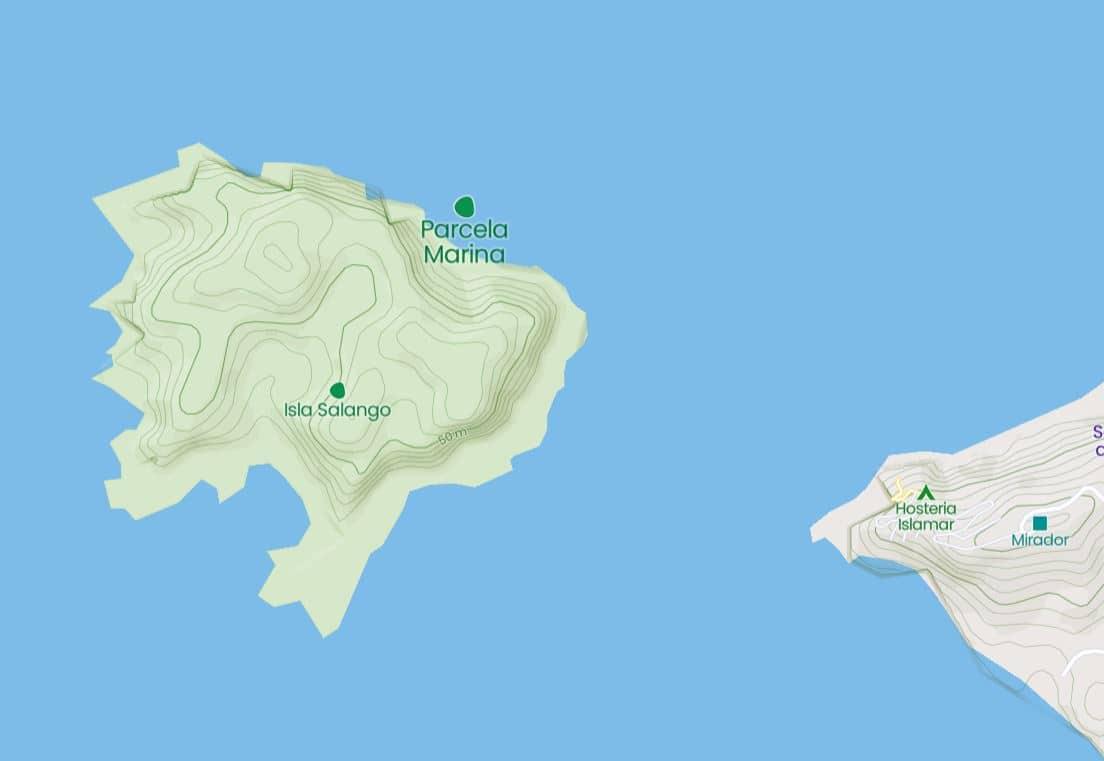 Mapa Isla Salango